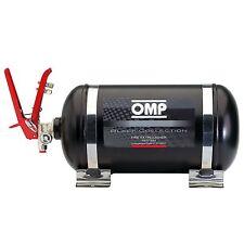 OMP noir collection bouteille en acier mécanique extincteur système - 4,25 Ltr