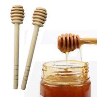 Long Handle Wood Honey Spoon Mixing Stick Honey Jar Supplies Kitchen Tools 140mm