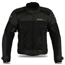 Motocicleta Moto chaqueta de malla de aire Racing protección Cordura Chaqueta Negro, L