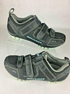Bontager Inform Race MTB Mountain Biking Cycling Shoes Black Straps Womens 5.5