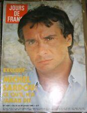 Jours de France N° 1464 22 janvier 1983 Michel Sardou Mode Chanel Avoriaz Actu