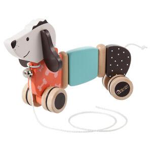 """howa Nachziehtier Ziehtier Nachziehspielzeug Hund """"Fidi"""" aus Holz 6015"""