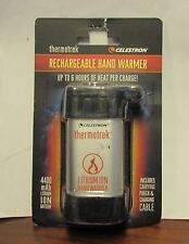 NEW Celestron Thermotrek Rechargeable Hand Warmer 6 hours heat 4400 mAh battery
