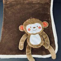 Babies R Us Baby Blanket Brown Monkey Dangling 3D Arms Legs Plush Fleece Koala