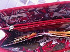 Ladies ROWALLAN Red Leather Organiser slim Wallet  Purse
