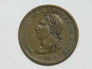 1783 WASHINGTON INDEPENDENCE UNITY STATES AMERICA LARGE CENT COLONIAL COIN 🌈⭐🌈