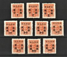 China 1949 Surch For Use as Gold Yuan Postage Due (10v Cpt) MNH