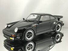 GT Spirit Porsche 911 (930) 3.3 Turbo S Black Resin Car Model 1:18