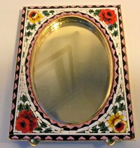 Charming vintage Italian micro mosaic millefiori picture frame.