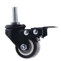 1.5inch Rubber Swivel Plate Caster Wheel with Brake for Suitcases Trolleys