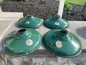 Vintage Silva-King Green Porcelain Enamel Industrial Shop Barn Light Shade