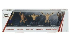 "WWE Wrestling Figurines 2.5"" Cena Rock Styles Balor Roman Reigns 5 Pack"