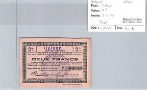 Bon des régions HOLNON - 2 Francs 8/8/16 - N°90023