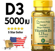 PURITAN'S PRIDE VITAMIN D3 ⭐ 5000 IU ⭐ USA SELLER ⭐ FAST FREE SHIPPING