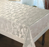 Luxury Tablecloth Non-Iron Stain Resistant white / cream size 60x95 60x134
