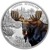 2020 Canada $30 Imposing Icons Moose 2 oz .9999 Silver Coin - 2,500 Made