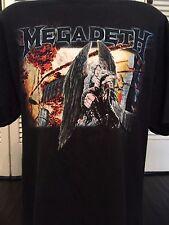Megadeth Death Angel Tour Shirt Sz XL Maiden Metal Slayer Ozzy Rock Metallica