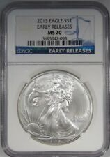 2013 Silver Eagle NGC MS70 Early Releases AJ741