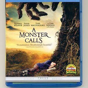 A Monster Calls 2017 PG-13 movie, Blu-ray, NO DVD, Sigourney Weaver, Liam Neeson