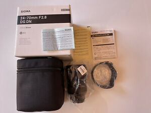 New Sigma 24-70mm f2.8 DG DN ART Lens for Sony E Mount