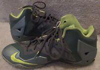 Nike Lebron XI 11 Green Gray Size 6.5Y 621712-302