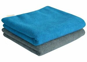 TWO Microfiber Travel Towel Bath Gym Sport Camping Beach Swim Lightweight Carry