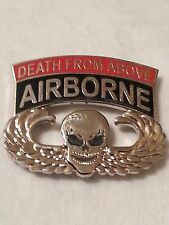 "US ARMY  Airborne ""Death From Above"" Pin"