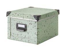 Ikea Fjalla Storage Box, Light Green Spotted 22x26x16, BNWT