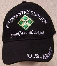 Embroidered Baseball Cap Military Army 4th Infantry Division NEW 1 size fits all