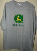 John Deere Men's Gray XXL T-Shirt Farm Tractors S/S Brand Advertising Collectors