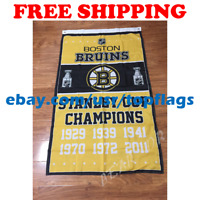 Boston Bruins Stanley Cup Champions Flag Banner 3x5 ft 2019 NHL Hockey NEW