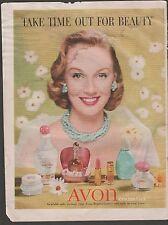 AVON COSMETICS AD PLUS AD FOR GE REFRIGERATOR/FREEZER 1956