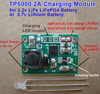 2A Fast Charging Module 3.7v Lithium 18650 3.2v LiFePO4 Battery Charger Board