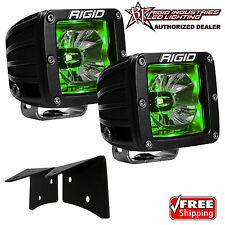 Rigid Radiance A-Pillar LED Lights w/ Green Backlight for 07-17 Jeep Wrangler JK
