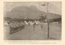1899-ANTIQUE PRINT-BOER WAR-RECRUITS TO SOUTH AFRICAN LIGHT HORSE AT ROSEBANK