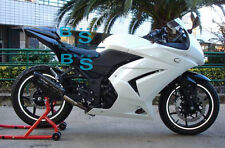 White Fairings + Tank Cover Fit Kawasaki Ninja 250R EX250 09 10 11 08-12 90 A1