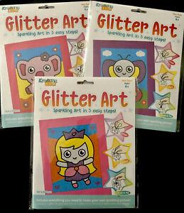 Glitter Art - Children's sparking art set - Princess, Butterfly or Elephant - Cr
