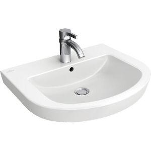 Villeroy & Boch Subway 2.0 round wash basin no overflow 600 x 490mm 7114.61.01