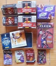 KOBE BRYANT LOT of 7 EMPTY NBA CARDS DISPLAY BOXES & WRAPPERS Panini Fleer UD