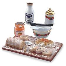 REUTTER PORZELLAN Planche à pâtisserie orange Dessert Set Maison de poupée 1:12