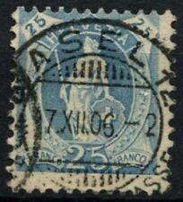Switzerland 1906 SG#207, 25c Pale Blue P11.5x11 Used #D71096