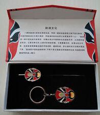 Quintessence Peking Chinese Opera Drama Mask Key chain & Bookmark Set