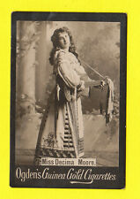 OGDENS GUINEA GOLD - SCARCE LARGE PHOTO CARD - ACTRESS -  DECIMA  MOORE - 1900