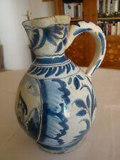 Pichet en céramique  ancien provenance à identifier probablement Delft    #1115#