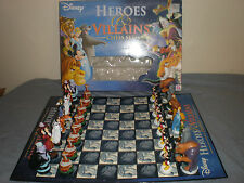Disney Heroes & Villains Chess Set Complete With Board & Box vgc