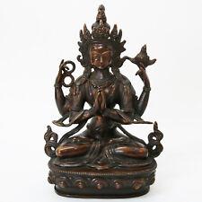 Buddha Statue Chenrezig Bronze Guss 22 cm  1700g  aus Dharamsala Indien Tibet
