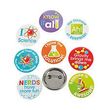 12 Science Badges | Party Favour