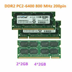 lot 4GB 8GB 20GB DDR2 PC2-6400S 800MHz 200pin Laptop SODIMM Memory RAM