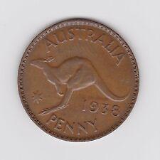 1938 KGVI AUSTRALIAN PENNY - VERY NICE VINTAGE COIN