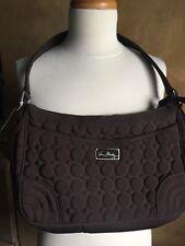 Vera Bradley Espresso Quilted Fabric Top Zip Shoulder Bag Nwt